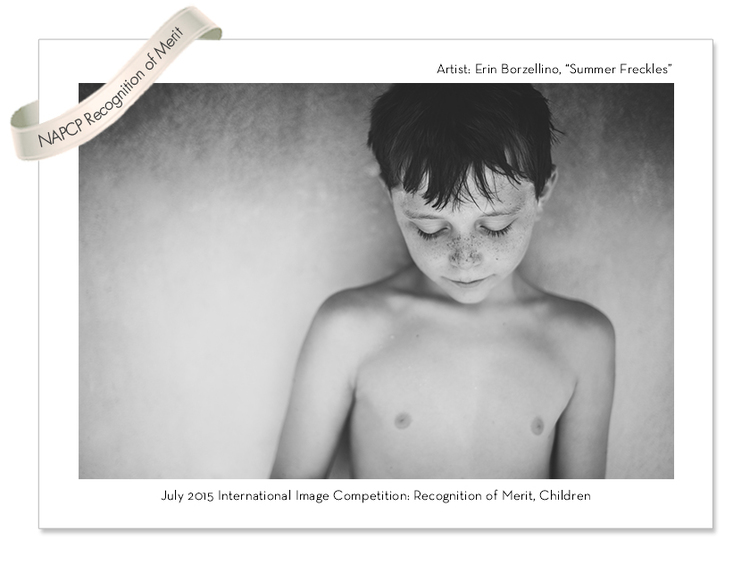Award Winning photo of young boy with freckles  by Erin Borzellino