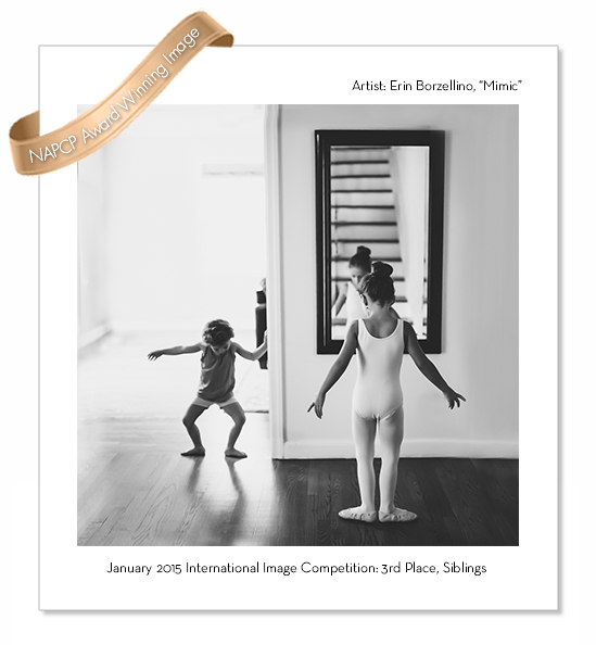 Award Winning photo of sisters practicing ballet by Erin Borzellino