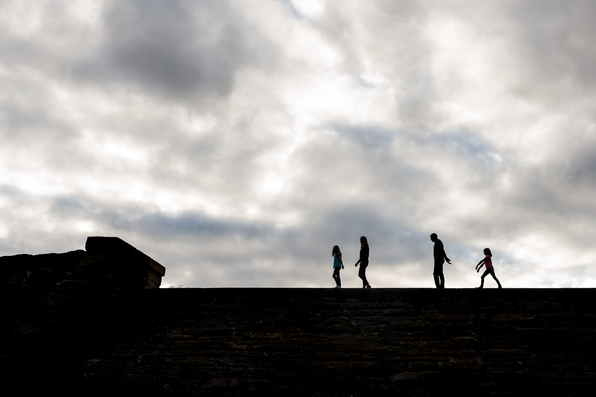 family portrait silhouette in Larchmont, NY by Erin Borzellino