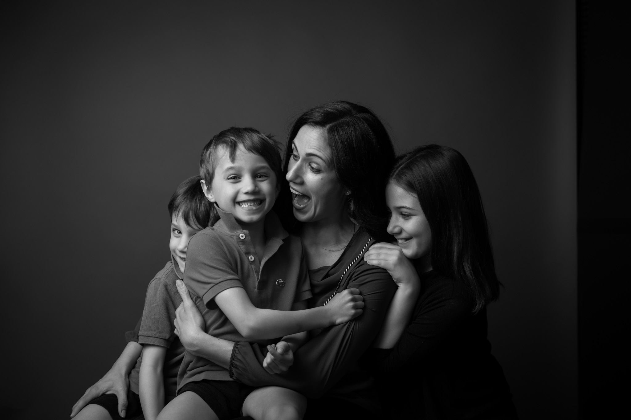 studio family portraiture by Erin Borzellino. NYC area