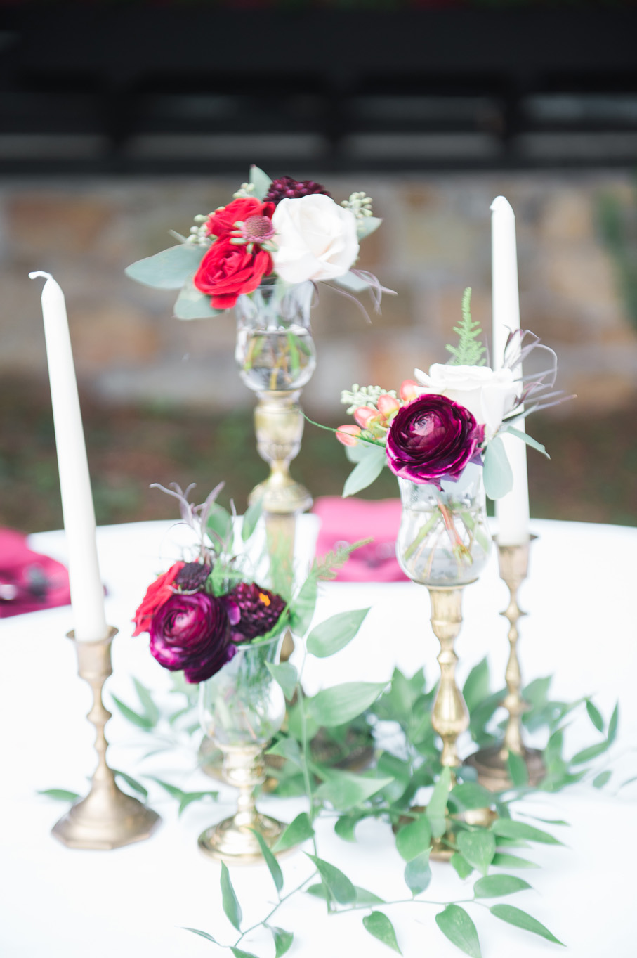 wedding centerpieces. deep creek Maryland. photography by Erin Borzellino