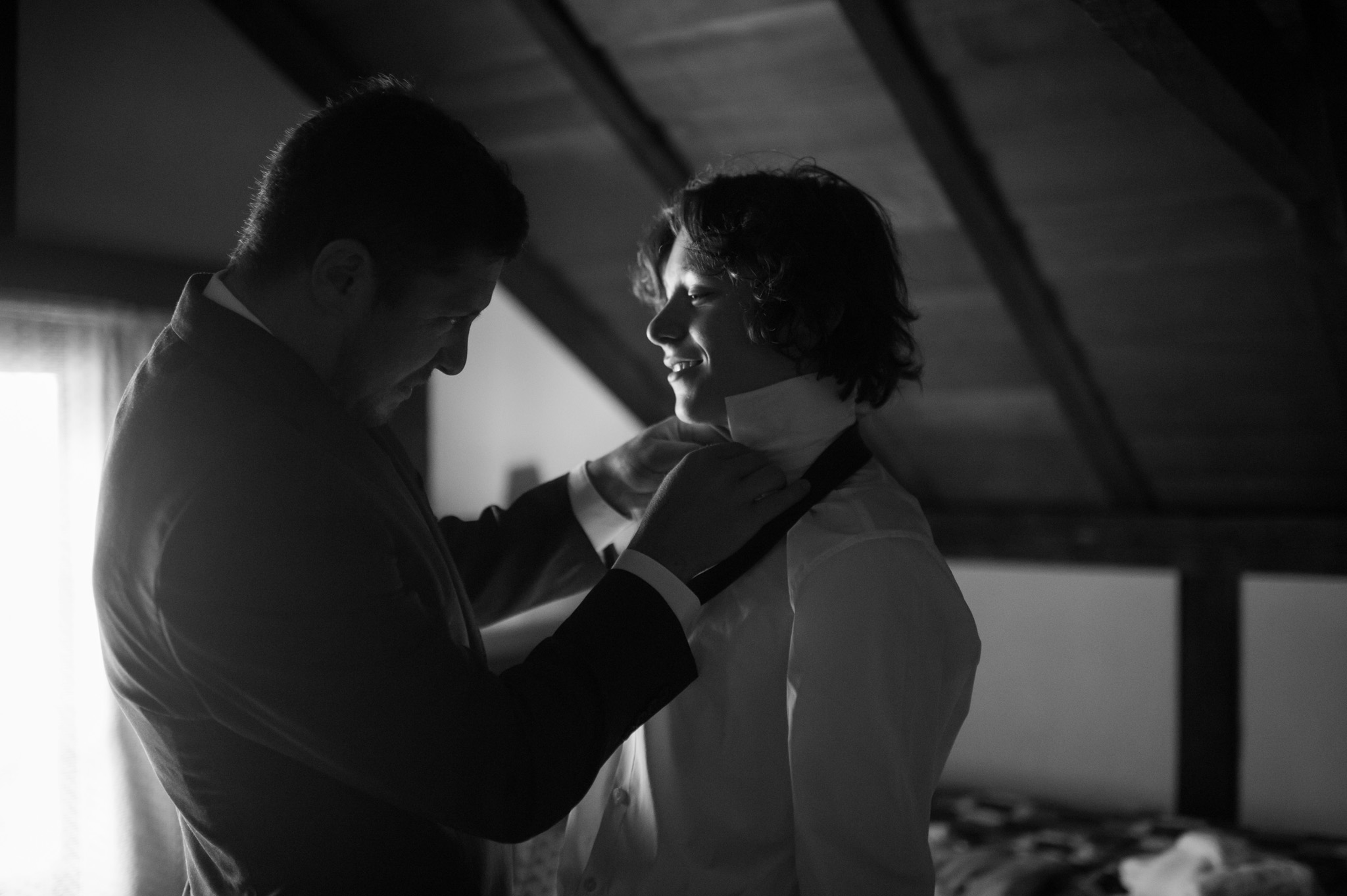 groom and son wedding preparations by Erin Borzellino wedding photographer