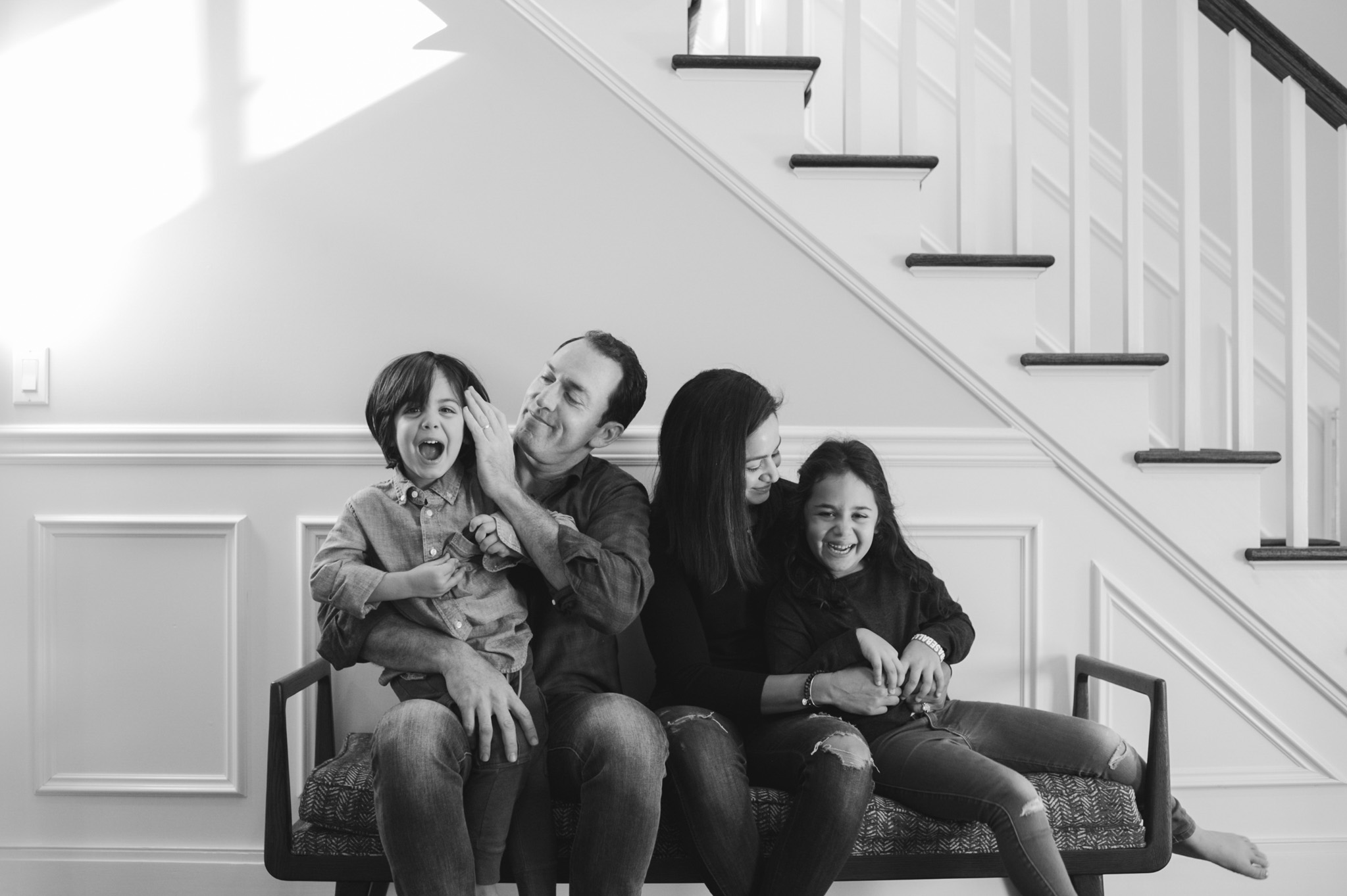 indoor environmental family portraiture by Erin Borzellino Scarsdale, NY