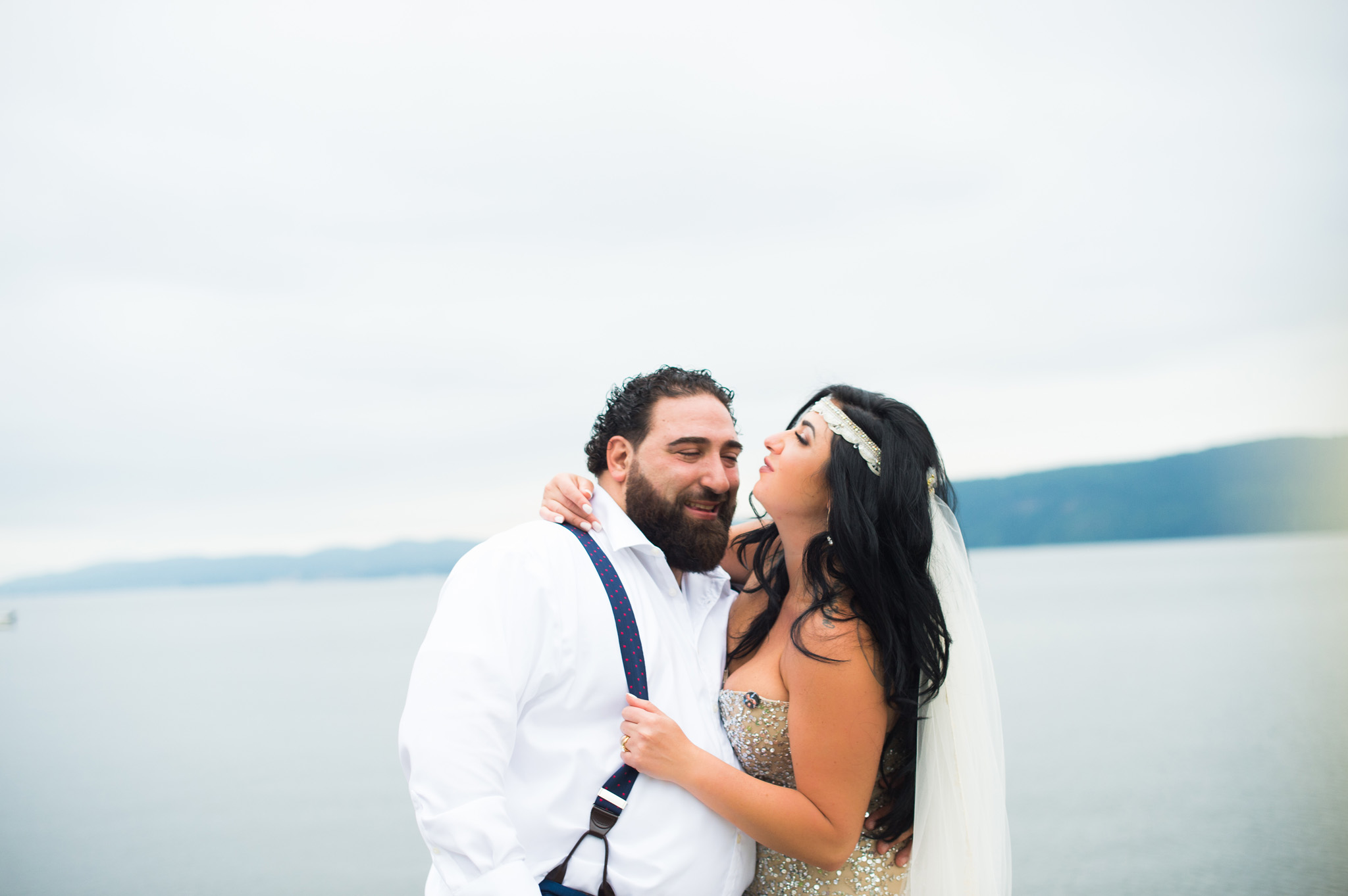 bride and groom portrait by Erin Borzellino. Westchester County NY wedding photographer